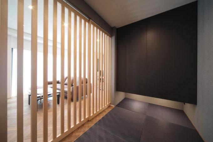 リビング タタミスペース 和室 5畳 間接照明 シブサワスタイル