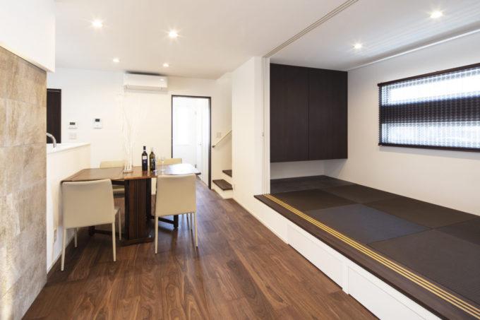 畳のある暮らし 小上がり畳スペース 収納 シブサワスタイル
