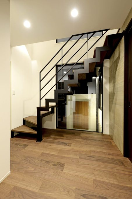 ホール階段 鉄骨階段 スケルトン階段 シブサワスタイル